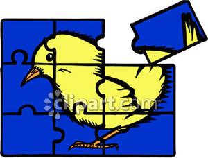 Puzzle clipart bird #1
