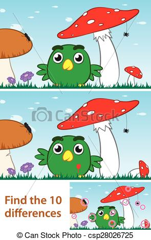 Puzzle clipart bird The of difference spot puzzle