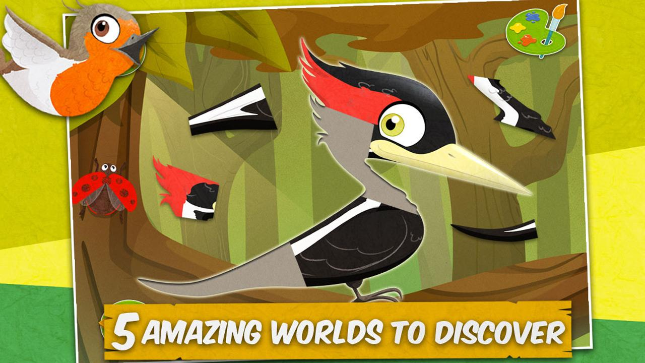Puzzle clipart bird Coloring Google Puzzle Kids screenshot