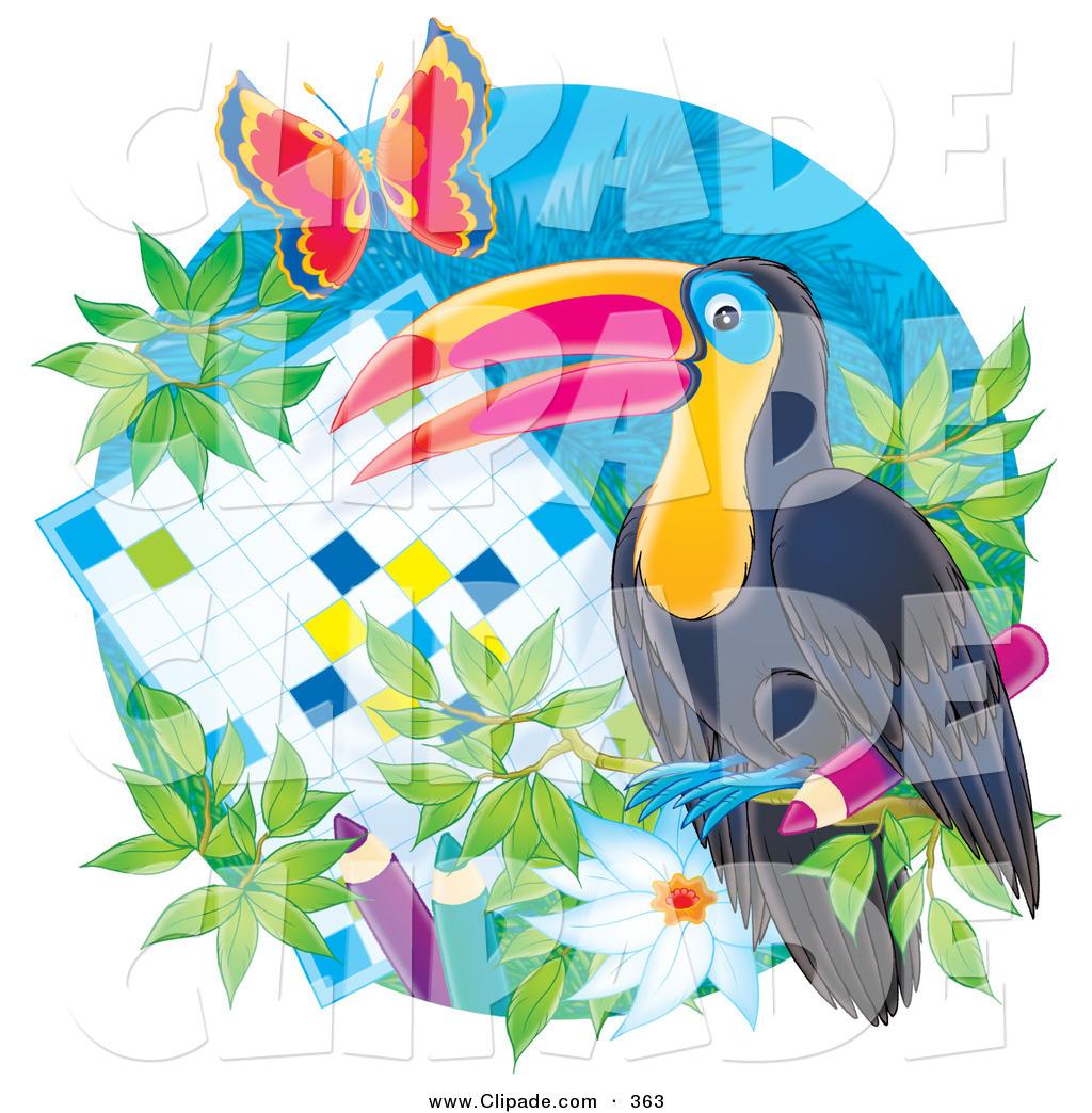 Puzzle clipart bird Word of Flowers a Flowers