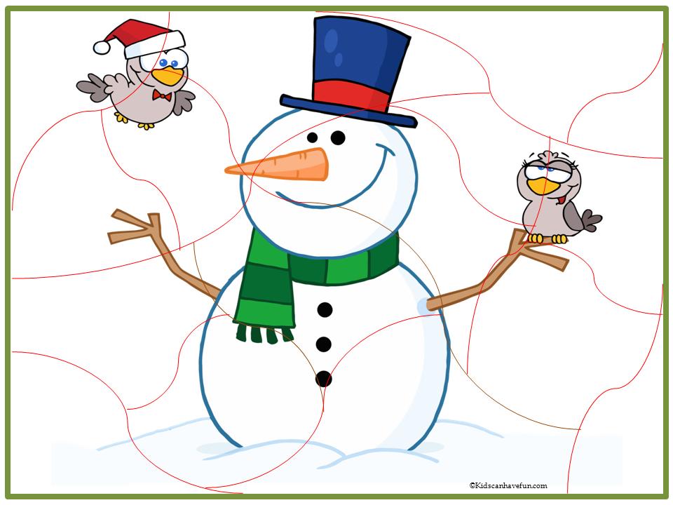 Puzzle clipart bird And KidsCanHaveFun bird snowman jigsaw