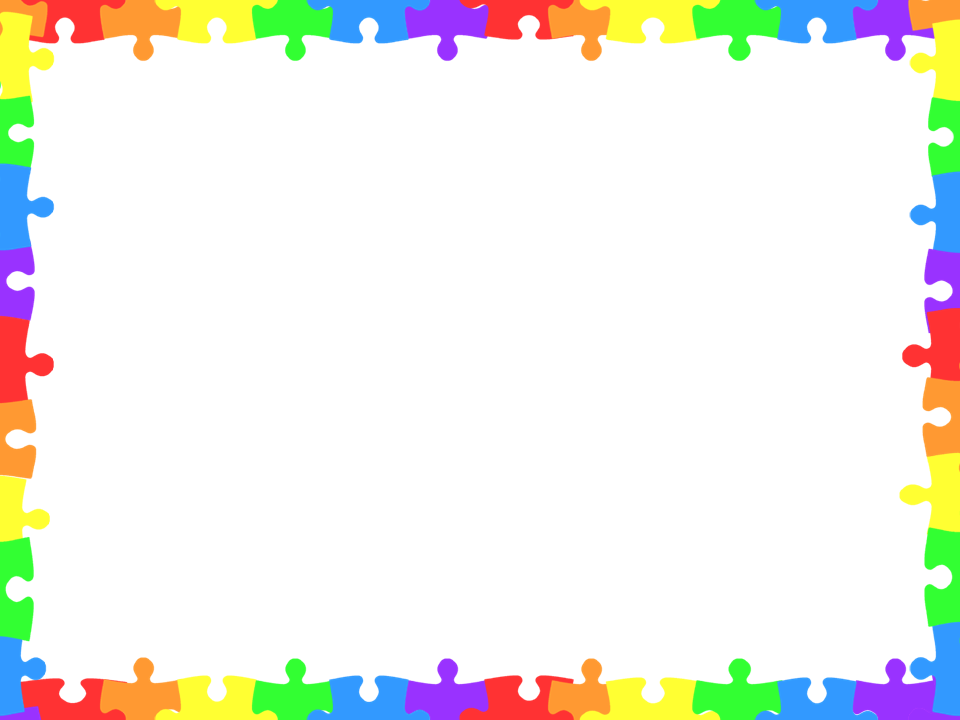 Puzzle clipart border clipart Awareness Month #clipart Border and