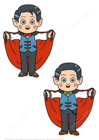 Dracula clipart halloween vampire costume Games in 5 Costume Find