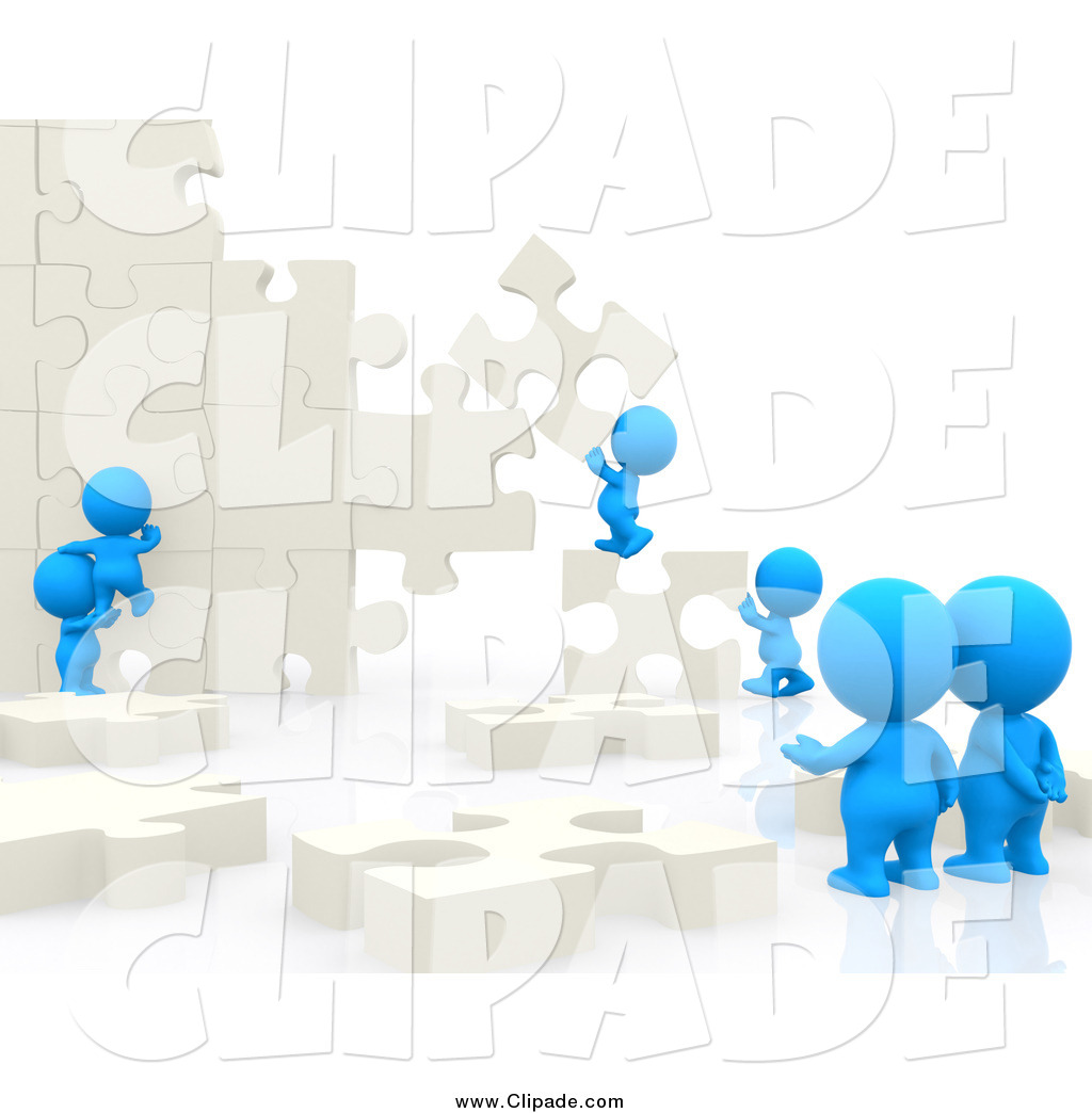 Puzzle clipart building a People Andresr Wall Art Blue