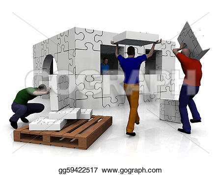People clipart house Stock People a Stock Illustration