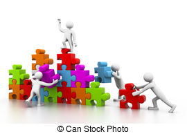 Puzzle clipart building a And Illustrations puzzles building teamwork