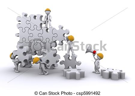 Puzzle clipart building a Team  developing Clip work