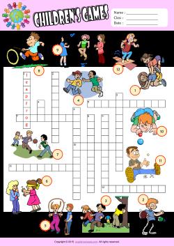 Puzzle clipart child game Worksheets ESL 1 Kids Games
