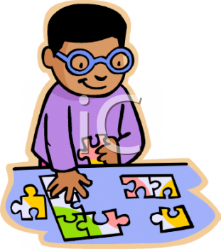 Puzzle clipart child game Game into meet on puzzle