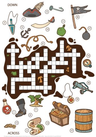 Puzzle clipart child game Children Children version Crossword Pirates