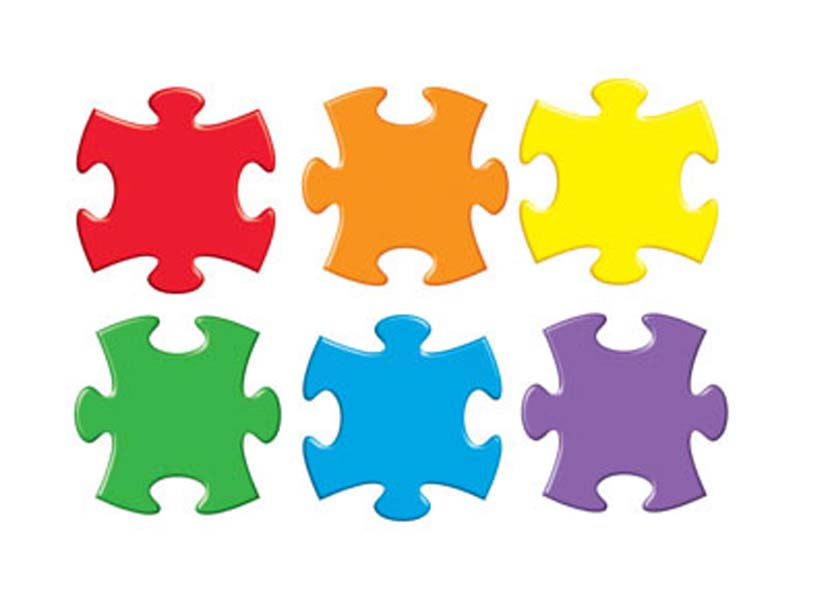 Puzzle clipart colored Printable download on Clipartix 0