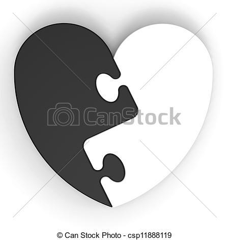 Puzzle clipart colored #8