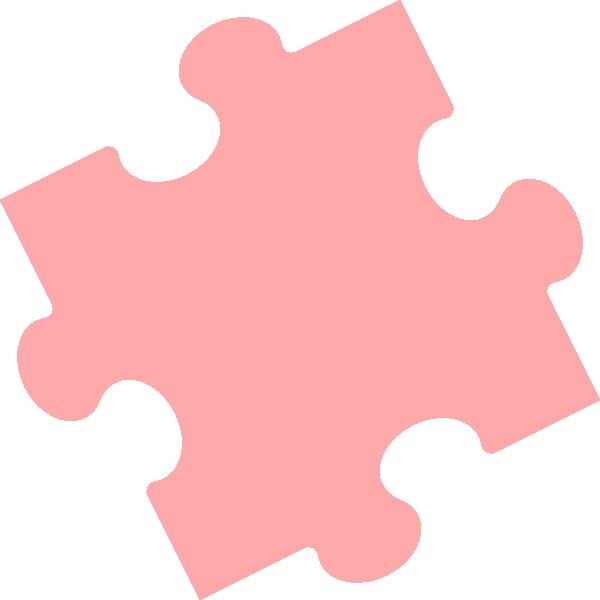 Puzzle clipart colored #9