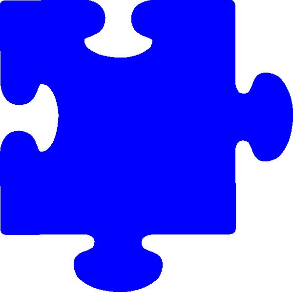 Puzzle clipart colored #6