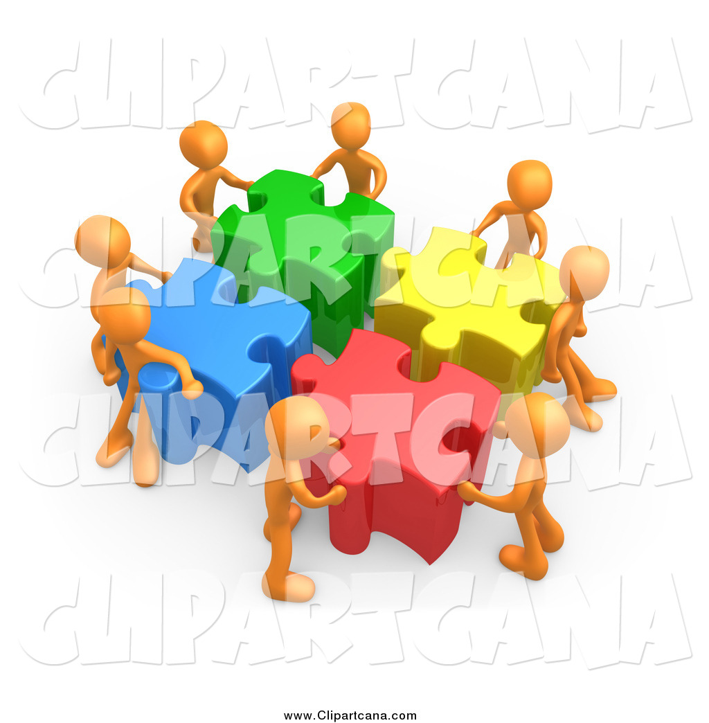 Community clipart puzzle Royalty Pieces Community Colorful Together