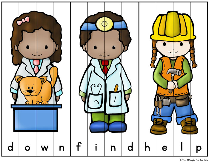 Community clipart puzzle Simple fun sight Helpers Fun