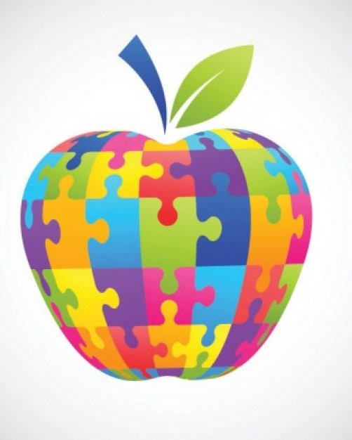 Apple Inc. clipart rainbow #1