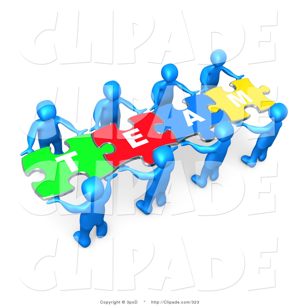 Puzzle clipart employee teamwork  up People of Connected