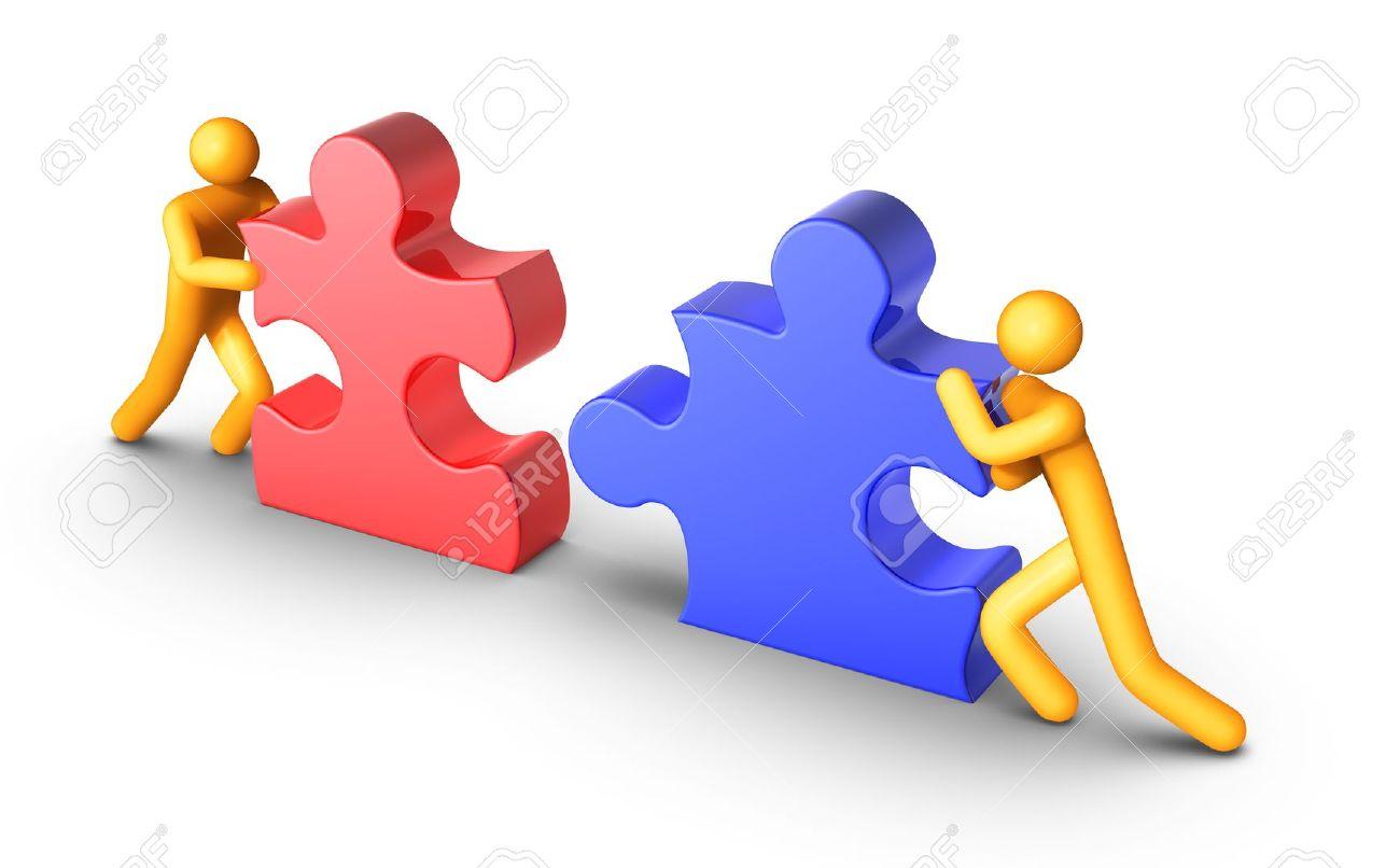 Puzzle clipart employee teamwork #8