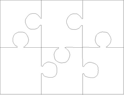 Puzzle clipart empty Blank cut pogknits easy 14