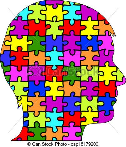Puzzle clipart face #2
