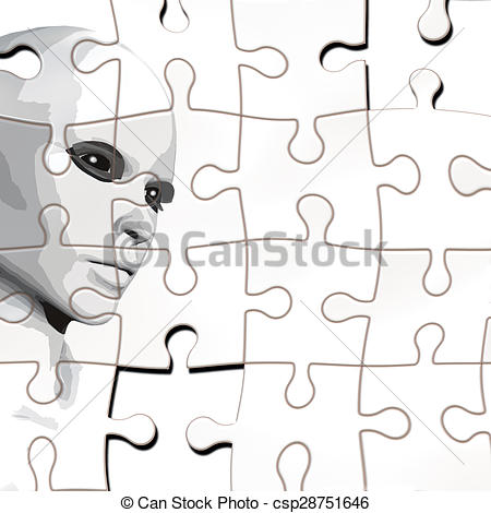 Puzzle clipart face Illustration puzzle from a face