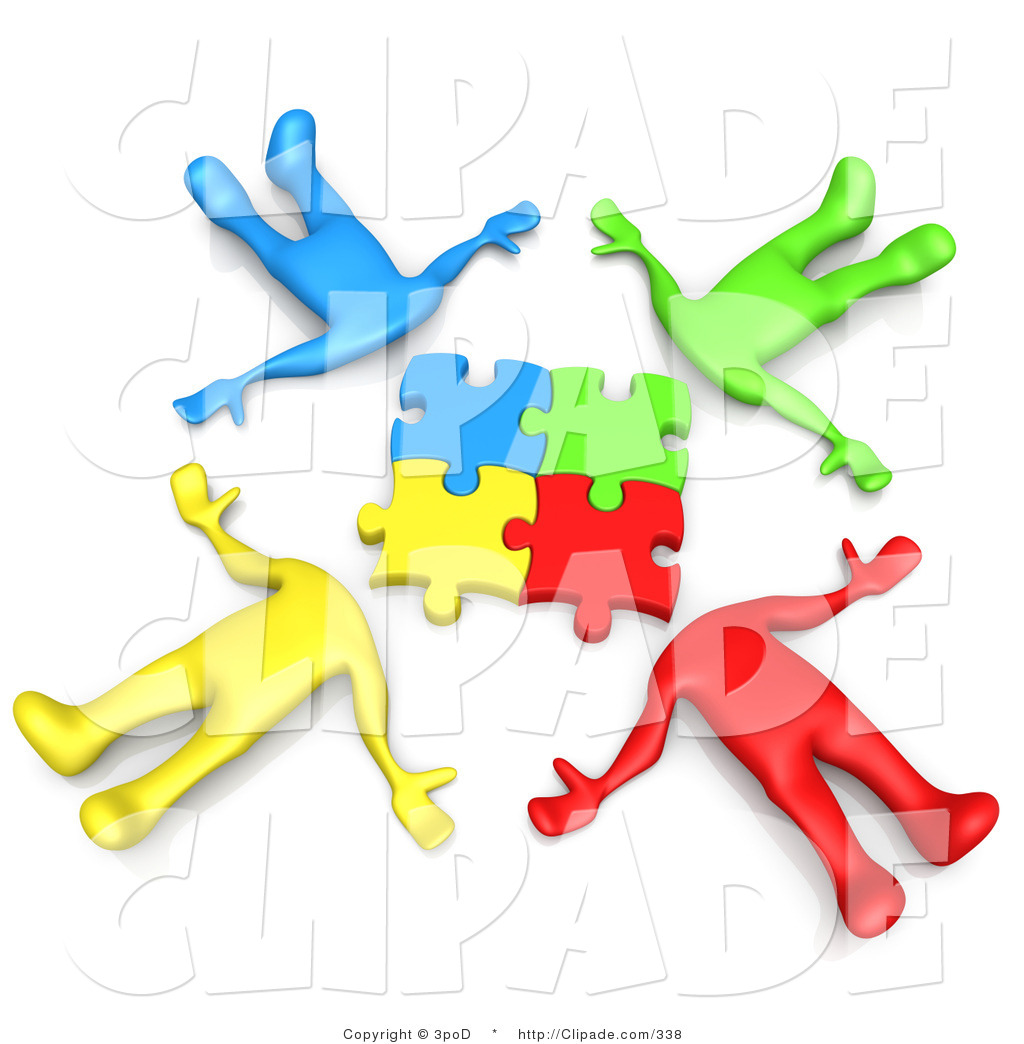 People clipart group four Images Images Puzzle Clipart Clipart
