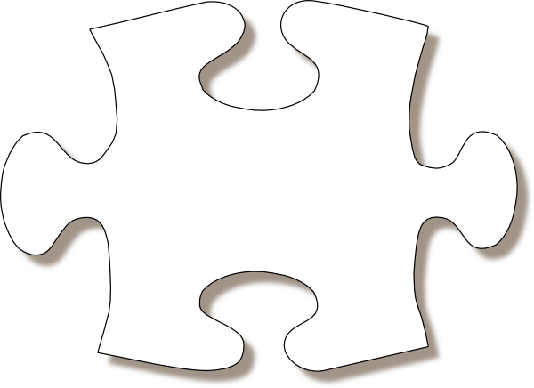 Puzzle clipart house outline  Puzzle this Shadow Piece