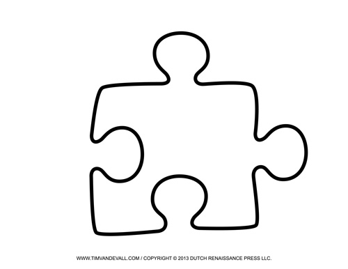 Puzzle clipart house outline #2