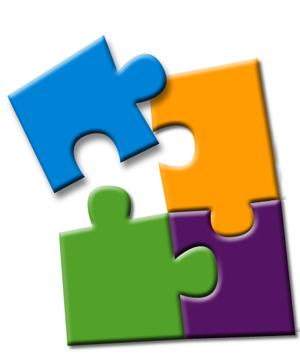 Puzzle clipart organization skills #8