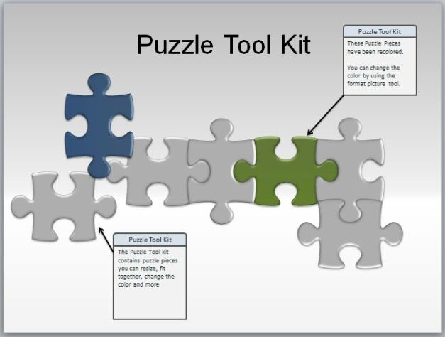 Puzzle clipart presentation outline For PowerPoint puzzles Animated Pieces