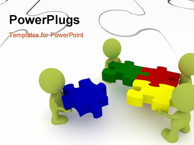 Puzzle clipart presentation outline #8