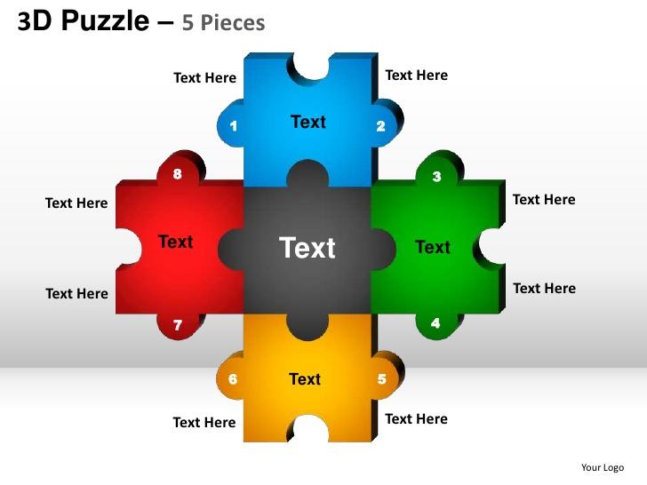 Puzzle clipart presentation outline #6