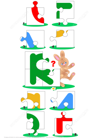 Puzzle clipart rabbit Is Printable R for Free