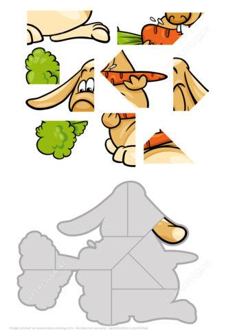Puzzle clipart rabbit #3