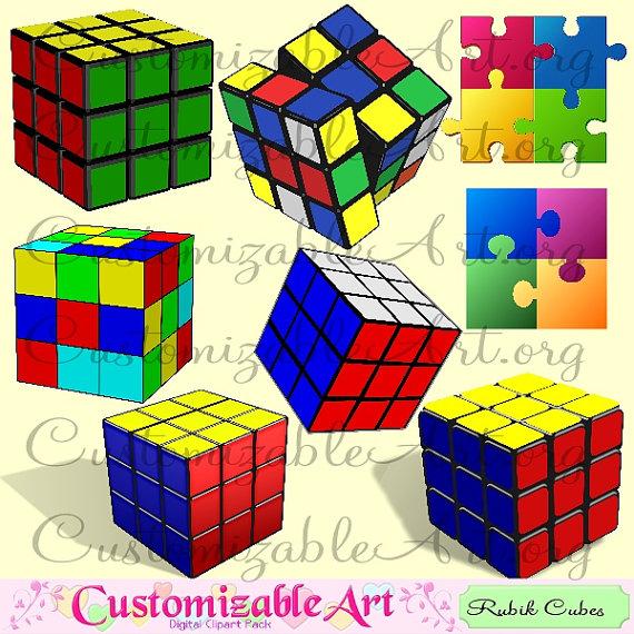 Cube clipart kids toy Jigsaw Digital Graphics Rubik Mathematical