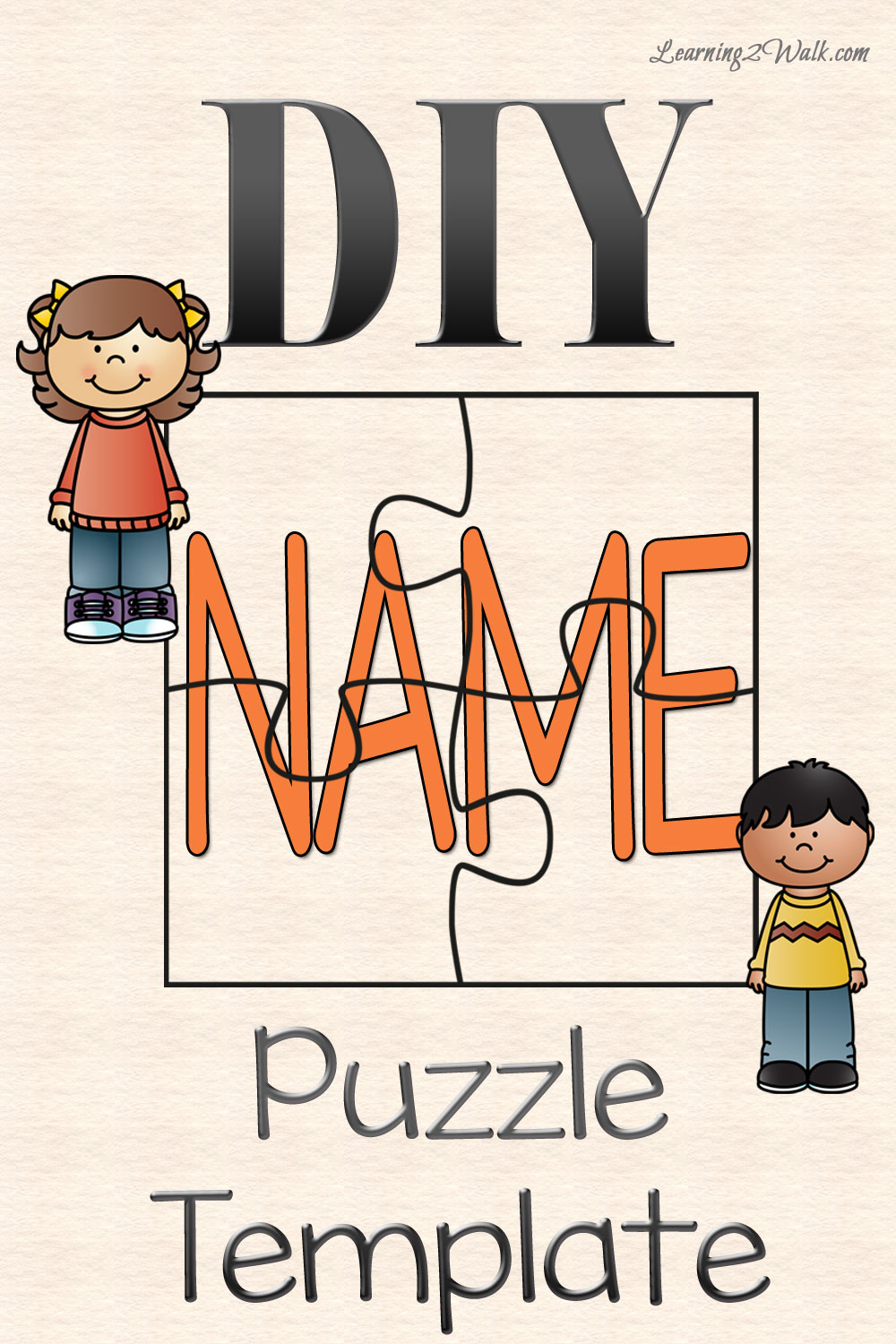 Puzzle clipart scope work TEMPLATE DIY NAME  PUZZLE