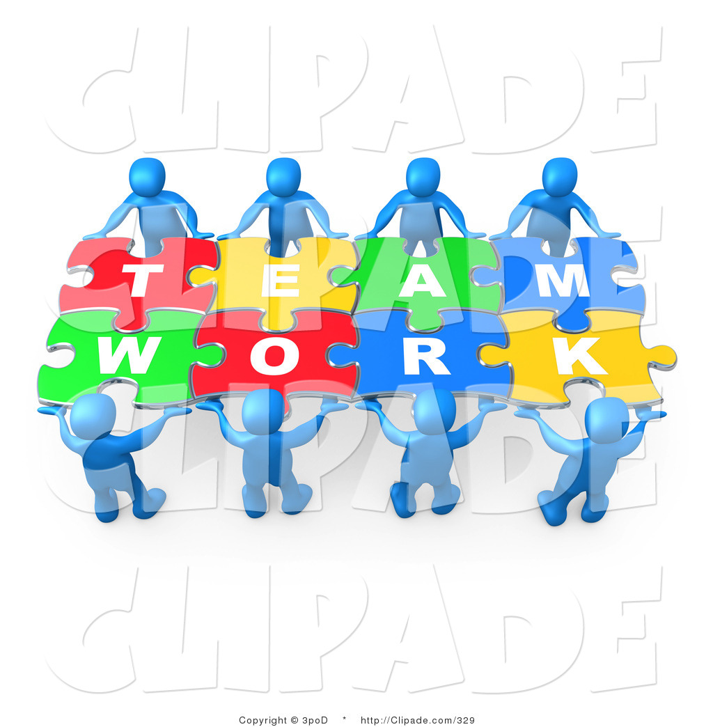 Puzzle clipart working together #1
