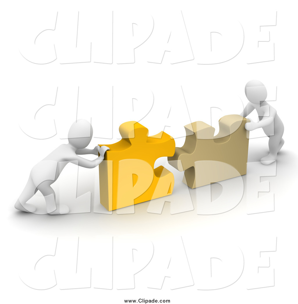Puzzle clipart working together #8
