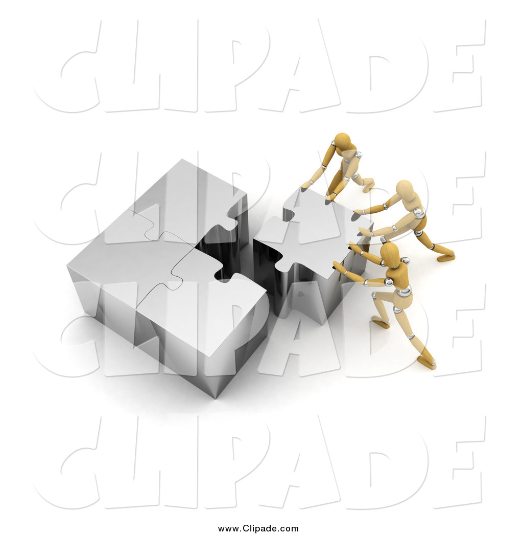 Puzzle clipart working together #11