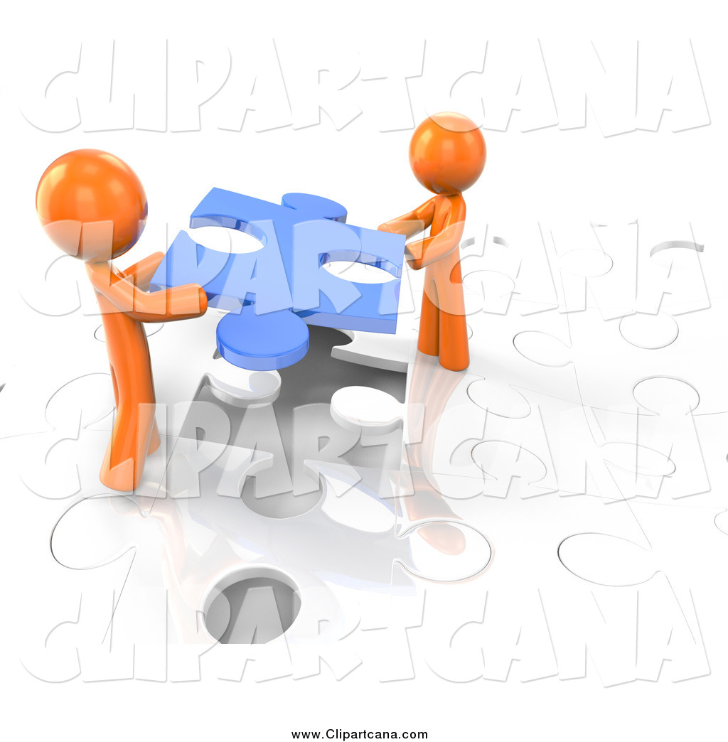 Puzzle clipart working together #5