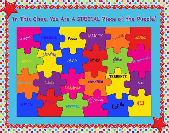 Puzzle clipart working together #14