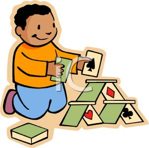 Cards clipart kid Free Pyramid with Cards a