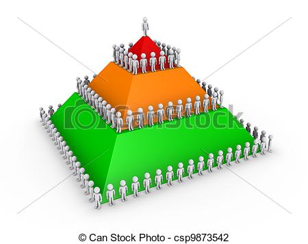 Structure clipart leadership Leadership with pyramid concept and