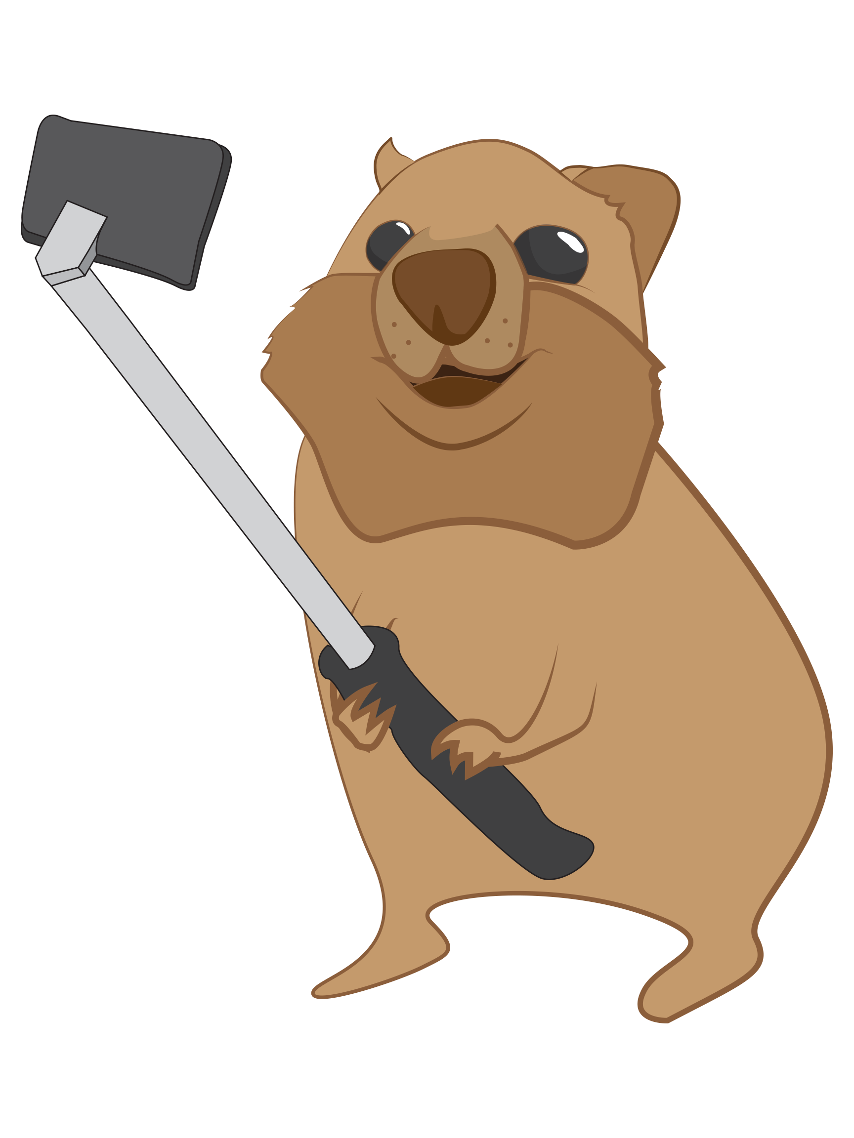 Quokka clipart Quokka selfie with stick Quokka