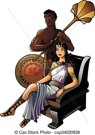 Queen clipart ancient greek Greek csp34030938 Vectors Greek with