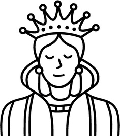 Queen clipart black and white #2