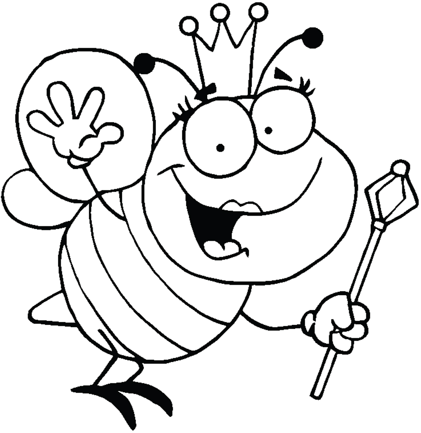 Queen clipart black and white #12