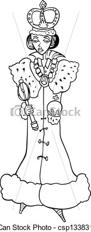 Queen clipart black and white #13