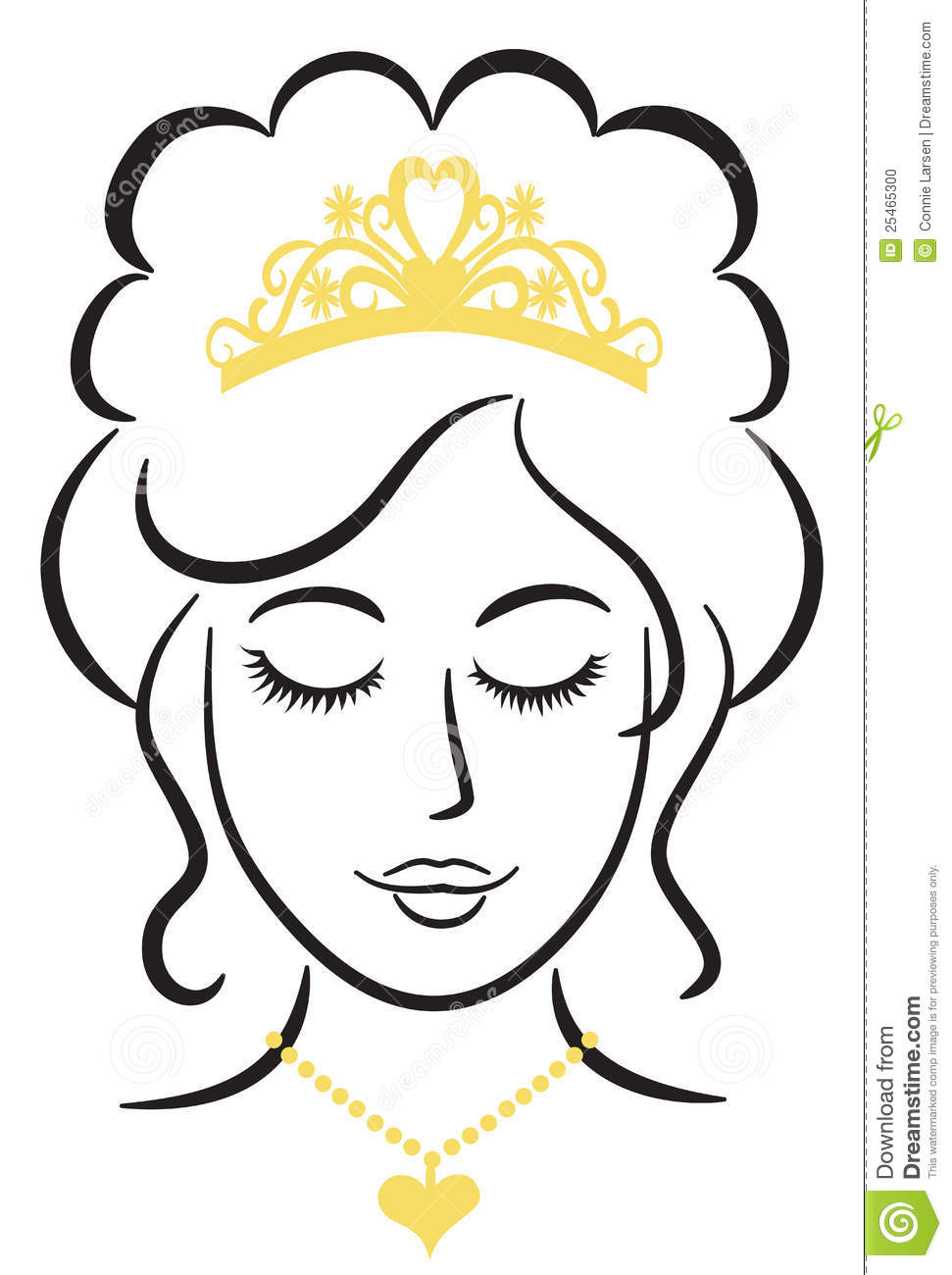 Queen clipart black and white #14